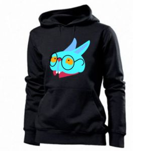 Women's hoodies Rabbit with glasses - PrintSalon