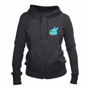 Women's zip up hoodies Rabbit with glasses - PrintSalon