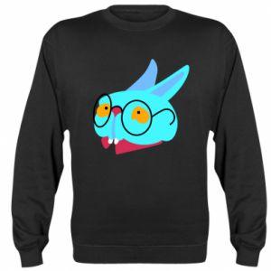Sweatshirt Rabbit with glasses - PrintSalon