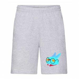 Men's shorts Rabbit with glasses - PrintSalon