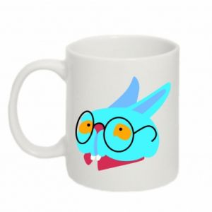 Mug 330ml Rabbit with glasses - PrintSalon