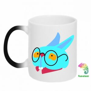 Chameleon mugs Rabbit with glasses - PrintSalon