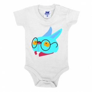 Baby bodysuit Rabbit with glasses - PrintSalon