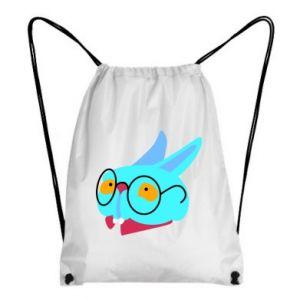 Backpack-bag Rabbit with glasses - PrintSalon