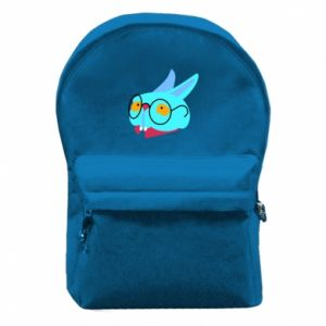 Backpack with front pocket Rabbit with glasses - PrintSalon