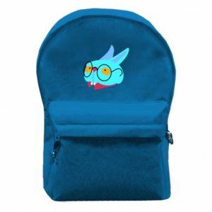 Plecak z przednią kieszenią Rabbit with glasses