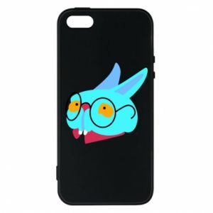 Phone case for iPhone 5/5S/SE Rabbit with glasses - PrintSalon