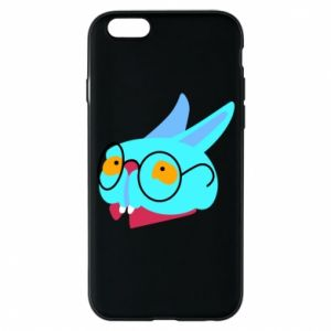 Phone case for iPhone 6/6S Rabbit with glasses - PrintSalon
