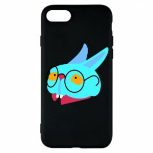 Phone case for iPhone 8 Rabbit with glasses - PrintSalon
