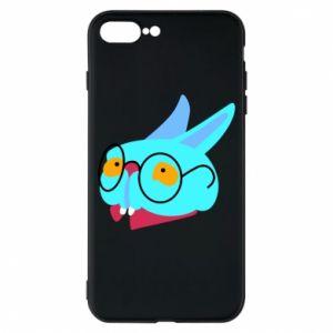 Phone case for iPhone 8 Plus Rabbit with glasses - PrintSalon