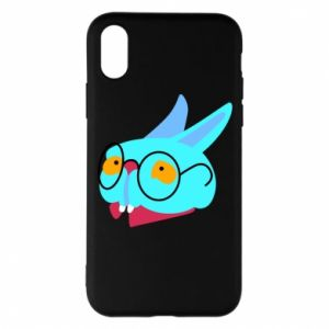 Phone case for iPhone X/Xs Rabbit with glasses - PrintSalon