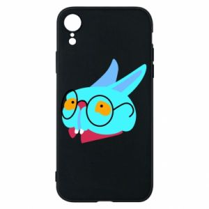 Phone case for iPhone XR Rabbit with glasses - PrintSalon