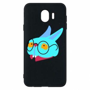 Etui na Samsung J4 Rabbit with glasses