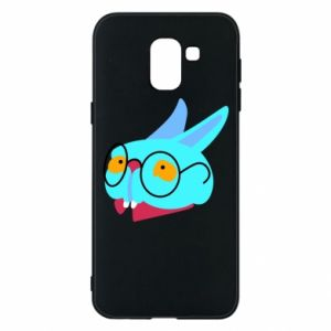 Etui na Samsung J6 Rabbit with glasses