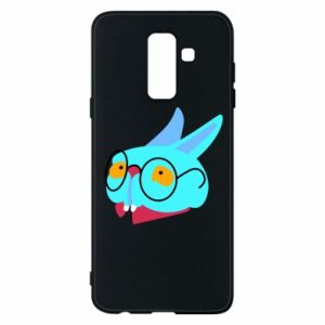 Phone case for Samsung A6+ 2018 Rabbit with glasses - PrintSalon