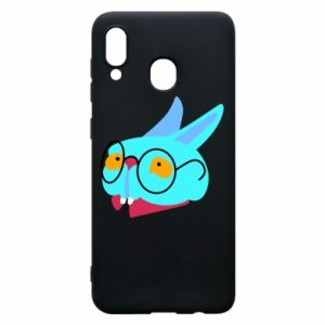 Phone case for Samsung A20 Rabbit with glasses - PrintSalon