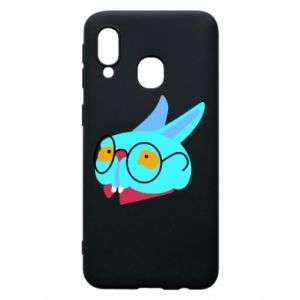 Etui na Samsung A40 Rabbit with glasses