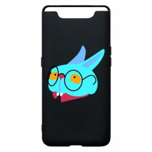 Etui na Samsung A80 Rabbit with glasses
