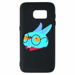 Etui na Samsung S7 Rabbit with glasses