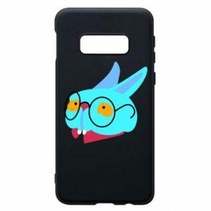 Phone case for Samsung S10e Rabbit with glasses - PrintSalon