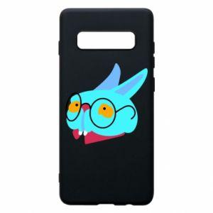 Phone case for Samsung S10+ Rabbit with glasses - PrintSalon