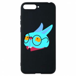 Phone case for Huawei Y6 2018 Rabbit with glasses - PrintSalon
