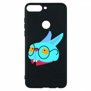 Phone case for Huawei Y7 Prime 2018 Rabbit with glasses - PrintSalon
