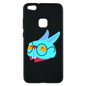 Phone case for Huawei P10 Lite Rabbit with glasses - PrintSalon