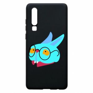 Phone case for Huawei P30 Rabbit with glasses - PrintSalon