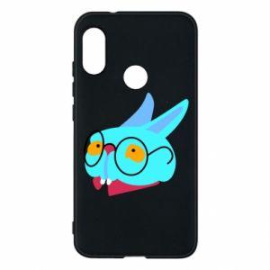 Phone case for Mi A2 Lite Rabbit with glasses - PrintSalon