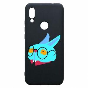 Phone case for Xiaomi Redmi 7 Rabbit with glasses - PrintSalon
