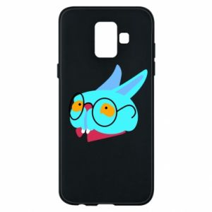 Phone case for Samsung A6 2018 Rabbit with glasses - PrintSalon
