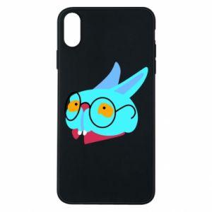 Etui na iPhone Xs Max Rabbit with glasses