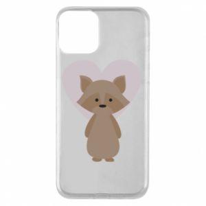 Etui na iPhone 11 Raccoon with heart