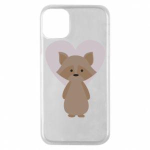 Etui na iPhone 11 Pro Raccoon with heart