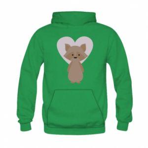 Bluza z kapturem dziecięca Raccoon with heart