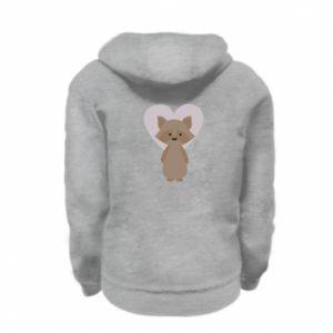 Bluza na zamek dziecięca Raccoon with heart