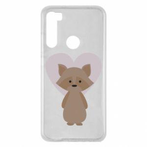 Etui na Xiaomi Redmi Note 8 Raccoon with heart