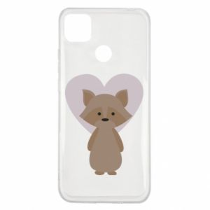 Etui na Xiaomi Redmi 9c Raccoon with heart
