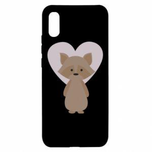 Etui na Xiaomi Redmi 9a Raccoon with heart
