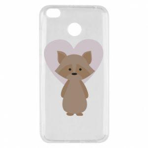 Etui na Xiaomi Redmi 4X Raccoon with heart