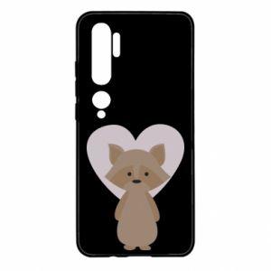 Etui na Xiaomi Mi Note 10 Raccoon with heart