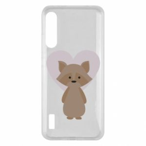 Etui na Xiaomi Mi A3 Raccoon with heart