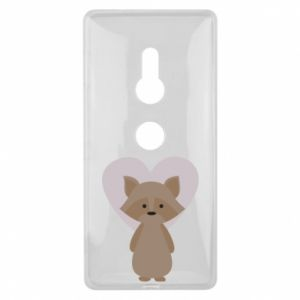Etui na Sony Xperia XZ2 Raccoon with heart