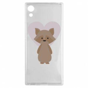 Etui na Sony Xperia XA1 Raccoon with heart