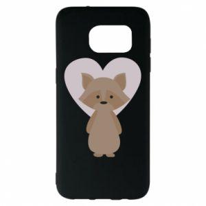 Etui na Samsung S7 EDGE Raccoon with heart