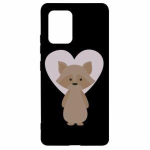 Etui na Samsung S10 Lite Raccoon with heart