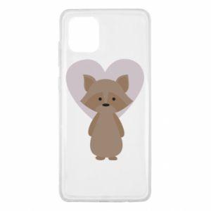 Etui na Samsung Note 10 Lite Raccoon with heart