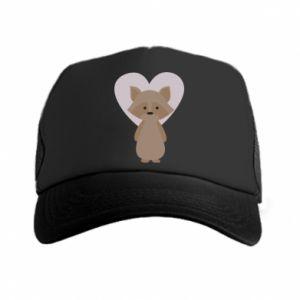 Czapka trucker Raccoon with heart