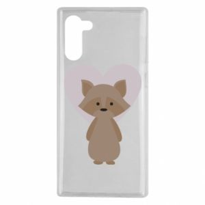 Etui na Samsung Note 10 Raccoon with heart